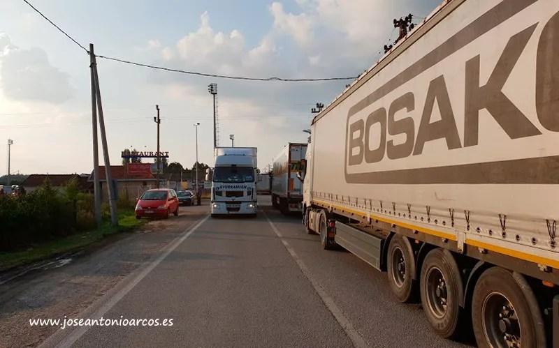 Camiones en Europa.