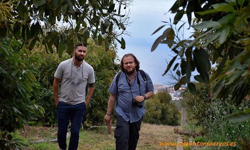 José Antonio Arcos junto a Efrén Díaz en una finca de aguacate de la Orotava. /joseantonioarcos.es
