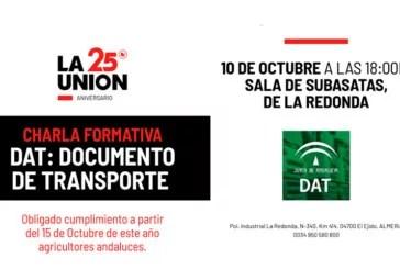 Día 10 de octubre. Jornada 'DAT: Documento de Transporte'