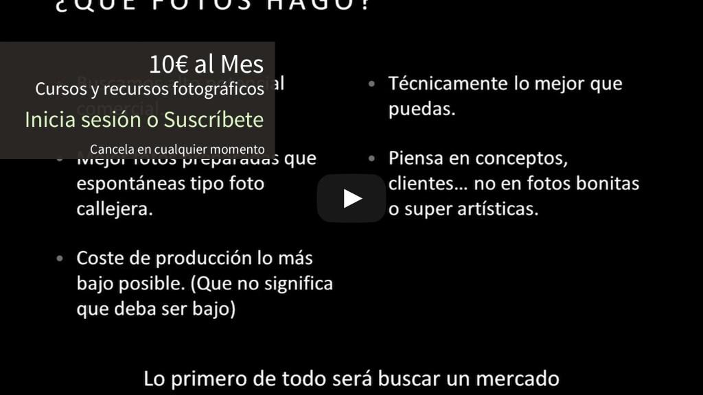 Curso de fotografía de Stock