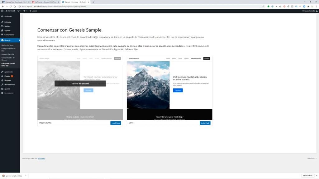 Genesis Framework para webs de fotografía