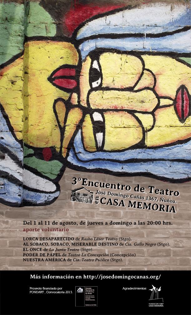 Tercer Encuentro de Teatro en Casa Memoria