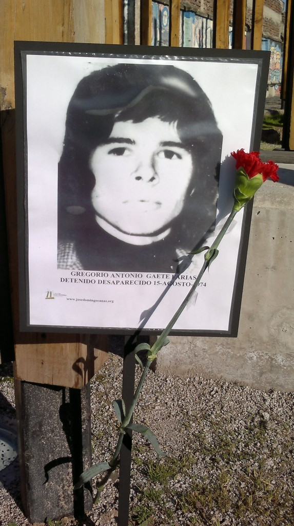 Gregorio Antonio Gaete Farías, Detenido Desaparecido el 15 de agosto de 1974