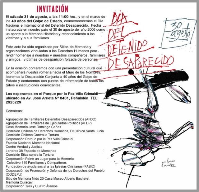Afiche oficial Conmemoración Día Nacional e Internacional del Detenido Desaparecido 2013
