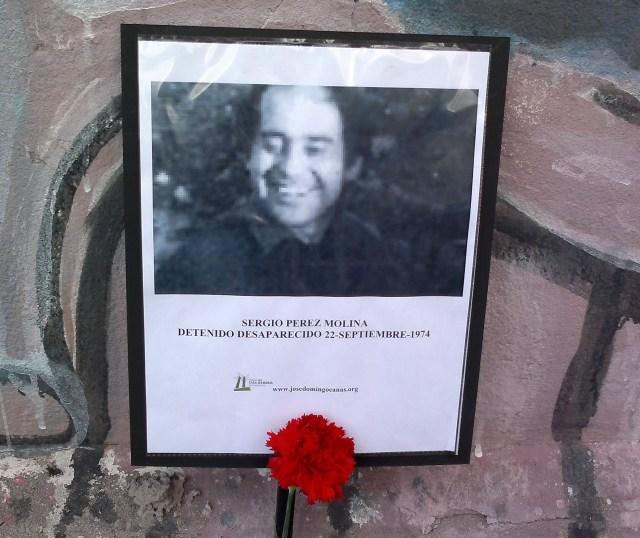 Sergio Perez Molina. Detenido Desaparecido el 22 de septiembre de 1974.