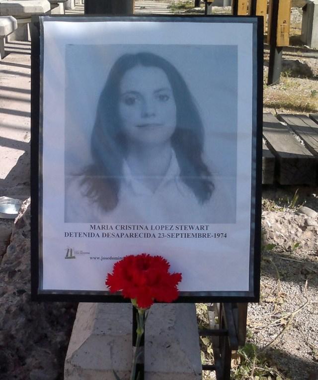 María Cristina López Stewart. Detenida Desaparecida el 23 de septiembre de 1974