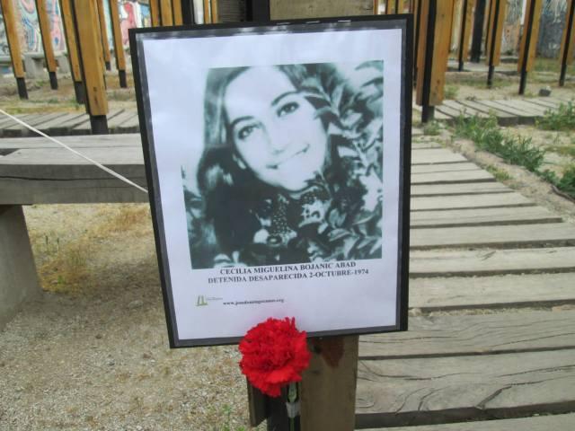 Cecilia Miguelina Bojanic Abad. Detenida Desaparecida el 2 de octubre de 1974.