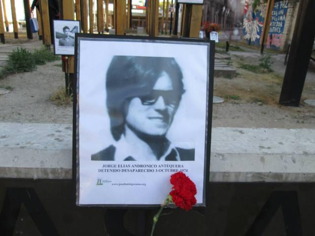 Jorge Elías Andrónicos Antequera. Detenido Desaparecido el 3 de Octubre de 1974