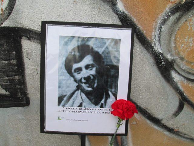 Marcelo Eduardo Salinas Eytel Detenido Desaparecido el 31 de octubre de 1974.