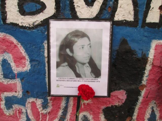 Cecilia Gabriela Castro Salvadores. Detenida Desaparecida el 17 de noviembre de 1974.