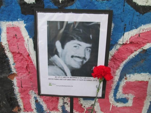 Juan Carlos Rodriguez Araya. Detenido Desaparecido el 17 de noviembre de 1974.