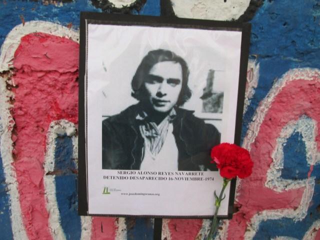 Sergio Alonso Reyes Navarrete. Detenido Desaparecido el 16 de noviembre de 1974.