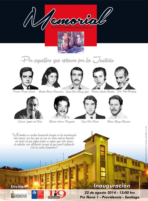 Afiche Memorial F.Derecho