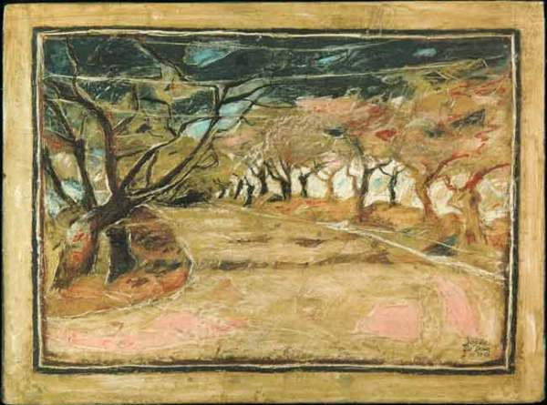 Allée de chênes
