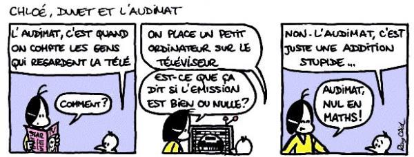 Mots et thèmes d'actualité expliqués en bande dessinée - Audimat