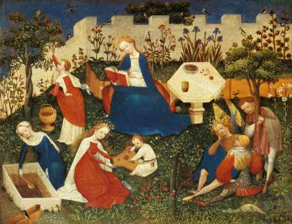 Jardin d'Éden avec mur.