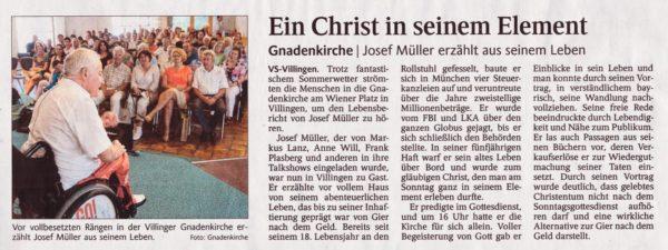 Villingen Schw. Bericht in Schwarzw. Bote 18.7.16