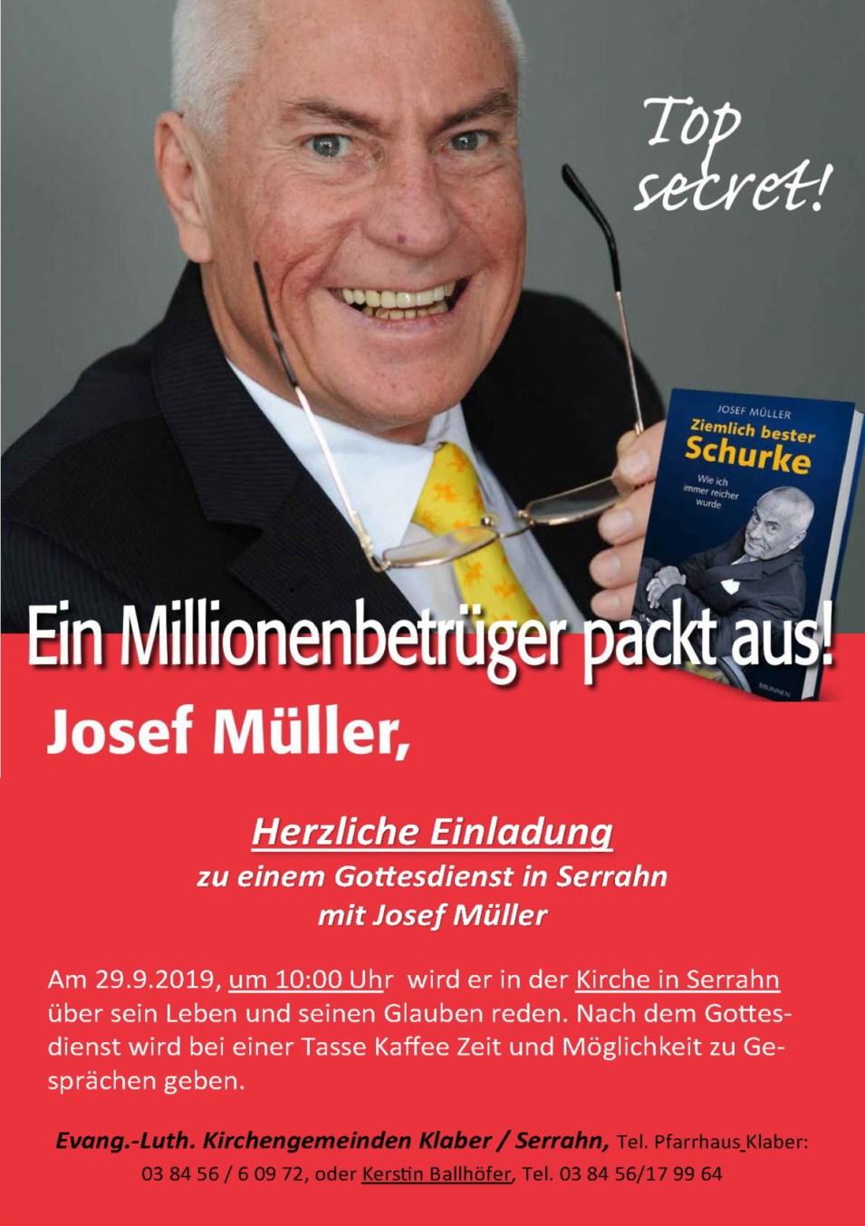 Einladung Gd Serrahn mit Josef Müller