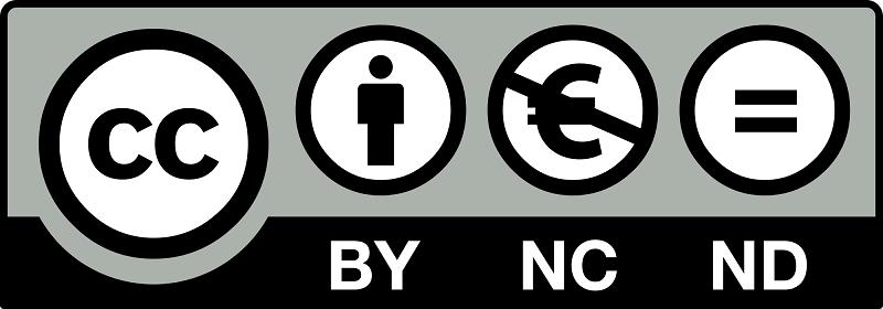 Licencias Creative Commons (Reconocimiento-No Comercial-Sin Obra Derivada)