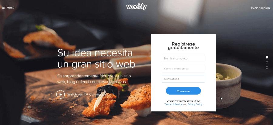 Weebly - Crear un blog gratis o una página web gratuita
