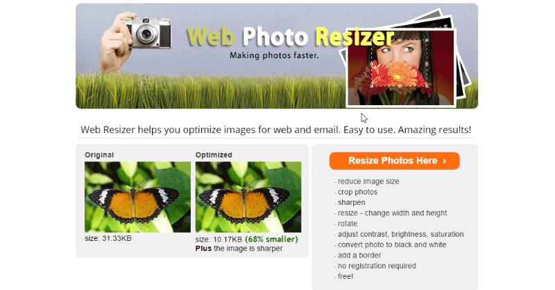 Web Resizer - Herramienta para comprimir fotos
