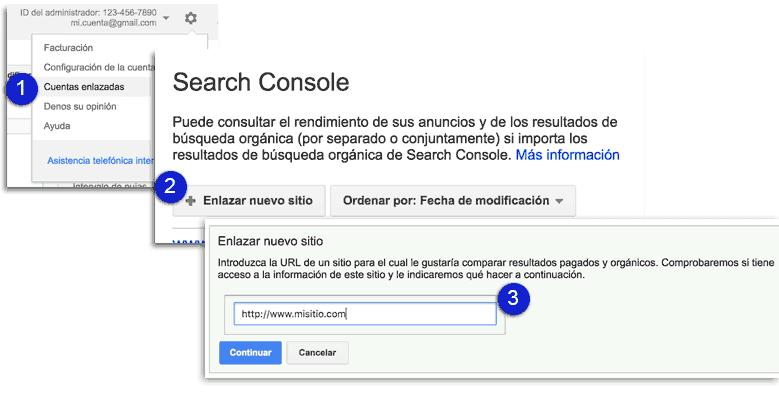 Cómo enlazar el planificador de palabras clave con el Google Search Console