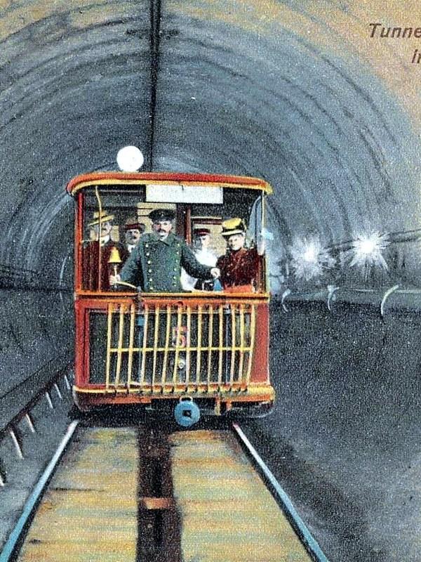 Treptow 1910, Tunnelbahn