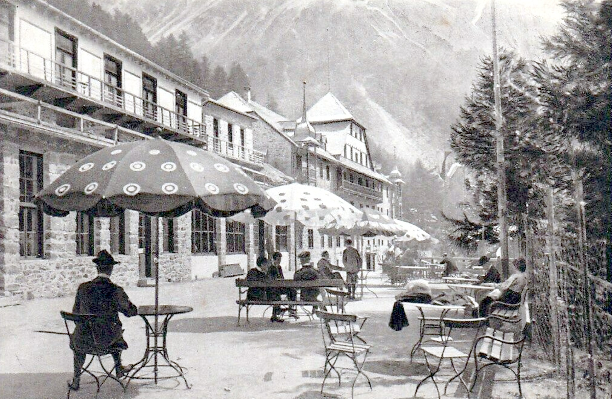 Sulden 1912, Hotel-Terrasse