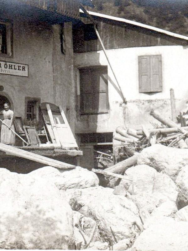 Klausen 1921, Hochwasser