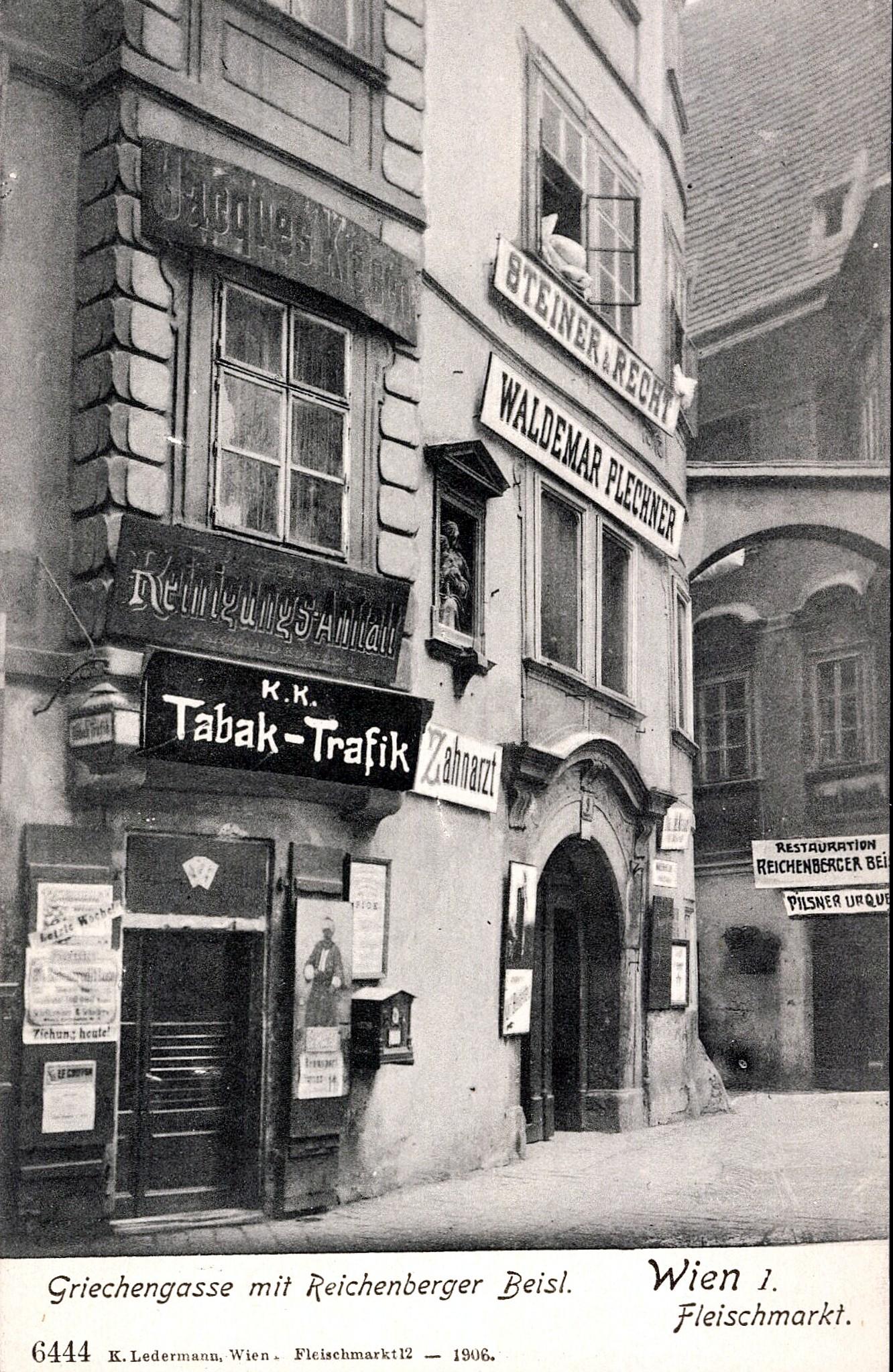 Wien 1905, Griechengasse