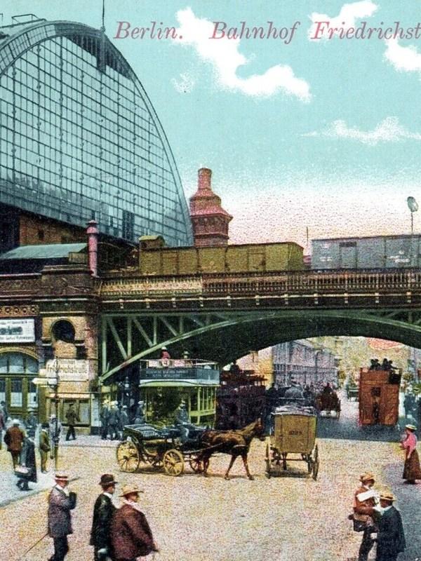 Berlin 1910, Bahnhof Friedrichstraße