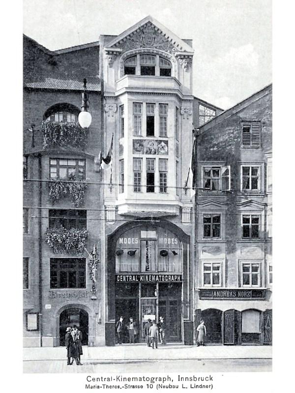 Innsbruck 1910, Kino-Neubau