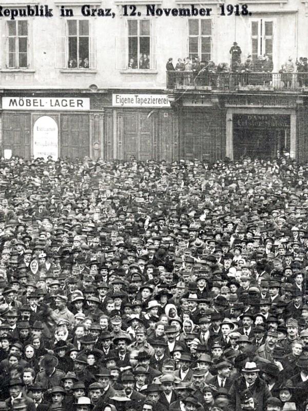 Graz 1918, Ausrufung der Republik