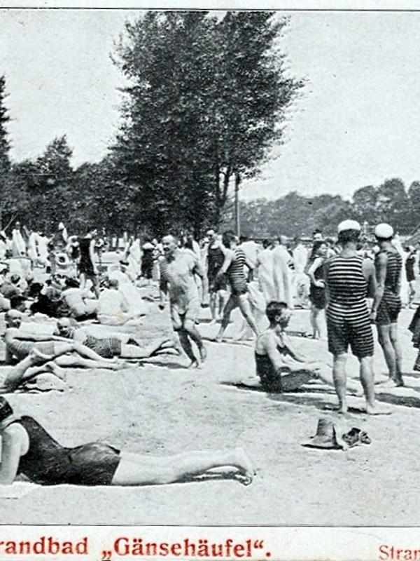 Wien 1903, Strandbad Gänsehäufel