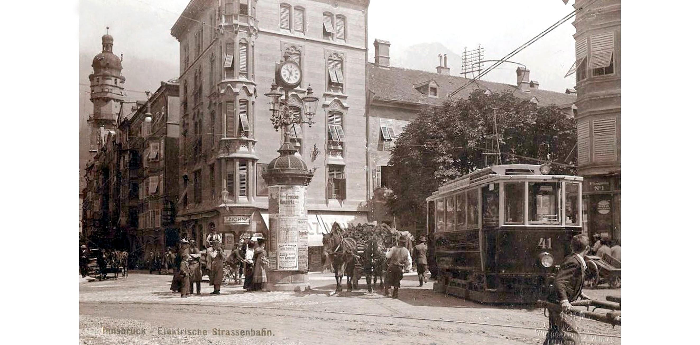 Innsbruck 1905, Straßenbild