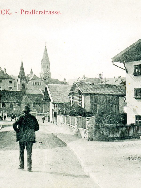 Pradl 1901, Straßenbild