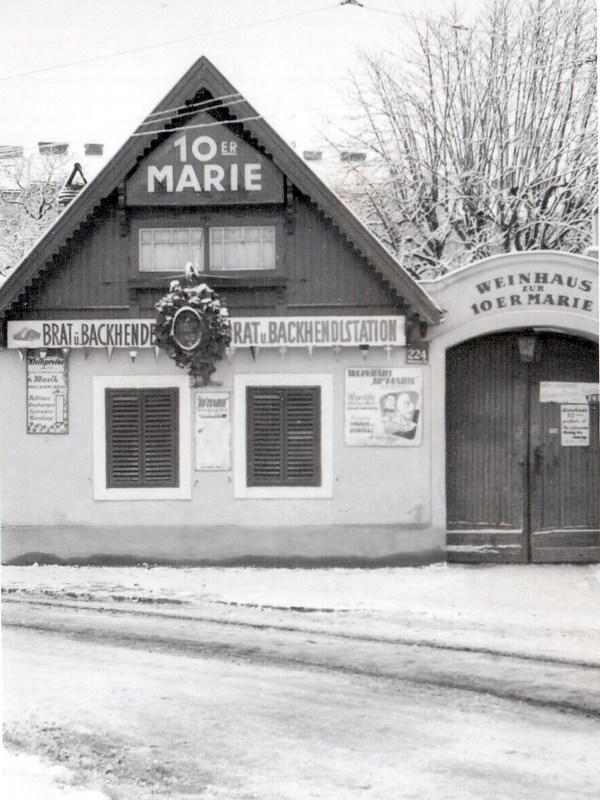 Wien 1950, Heuriger 10er Marie