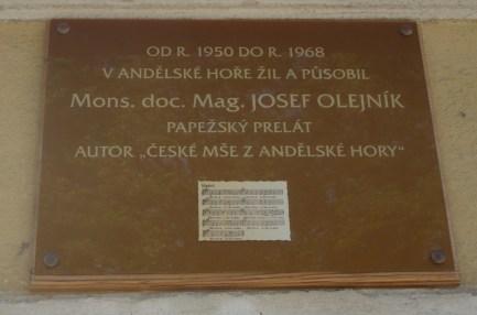 Pamětní deska v Andělské hoře