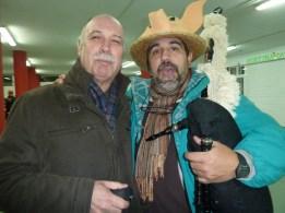 Con Ramón Pazos Marcote nas cantigas de taberna nas Cruces.