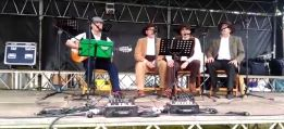 Na feira dos  Carballiños en Vilatuxe, con Benito, Antonio e Manolo  2017