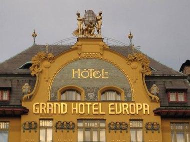 Praga, hotel evropa, fachada