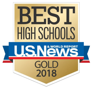 US News and World Report 2018 GOLD Best High Schools logo