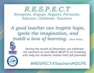 December RESPECT Teachers