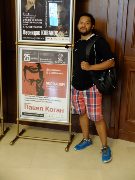 During my visit to Moscow a must was visiting Tchaikovsky Conservatoire. I found this poster announcing the concert of Shostakovich first and last symphony on the same concert.