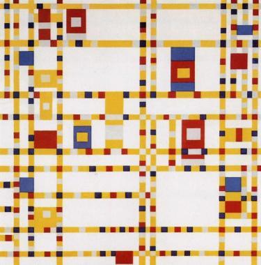 Piet Mondrian. Broadway Boogie-Woogie. 1942-1943.