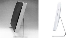 Altavoz LE1 de Dieter Rams (1958) y iMac de Jonathan Ive