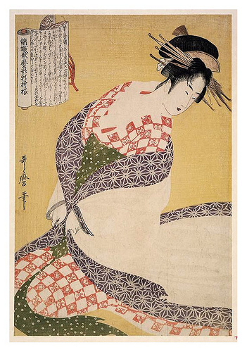 Japonesa pintada por Utamaro.