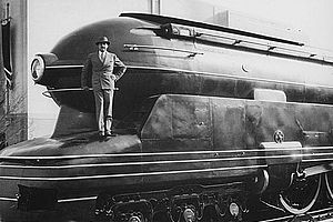 Locomotora S-1, diseñada por Loewy.