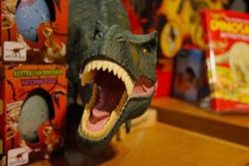 toy dinosaur roaring