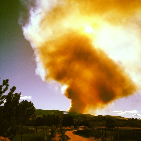 Uh-Oh! Fire on the Mountain Side! (Hunter Creek Fire)